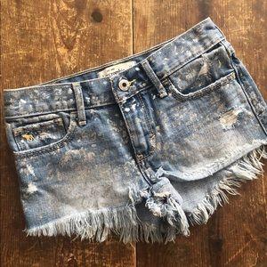Abercrombie Girls Denim Fray Cutoff Shorts